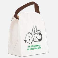 Yoga_HappyBaby_Green Canvas Lunch Bag