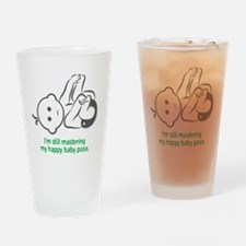 Yoga_HappyBaby_Green Drinking Glass