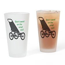 Running_SweatSmallStuff_Green Drinking Glass