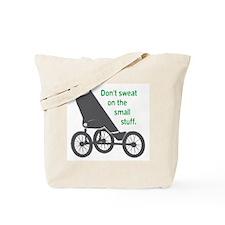 Running_SweatSmallStuff_Green Tote Bag