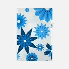 443_flowers_blue Rectangle Magnet