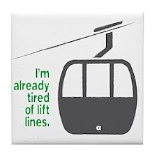 Snowsports_Lift_Lines_Green Tile Coaster