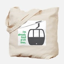 Snowsports_Lift_Lines_Green Tote Bag