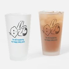 Yoga_HappyBaby_Blue Drinking Glass