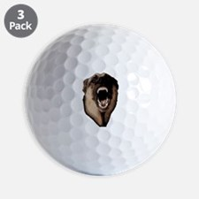 CK9D with dog (dark) FRONT AND BACK 10x Golf Ball