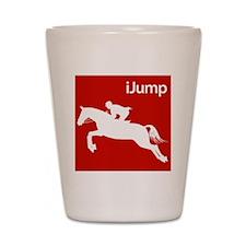 iJump Horses.eps Shot Glass