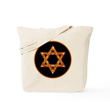 GoldleafStarofDavidBr Tote Bag