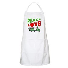 Peace Love Motor Scooter BBQ Apron