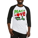 Peace Love Motor Scooter Baseball Jersey