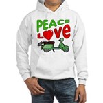 Peace Love Motor Scooter Hooded Sweatshirt