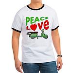 Peace Love Motor Scooter Ringer T