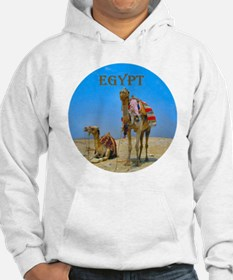 Egypt - camels logo round Hoodie