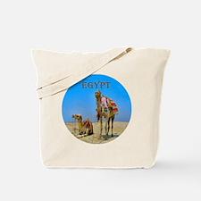 Egypt - camels logo round Tote Bag