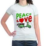 Peace Love Motor Scooter Jr. Ringer T-Shirt