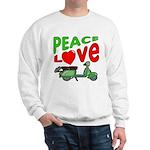 Peace Love Motor Scooter Sweatshirt