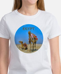 Egypt - camels logo round Tee