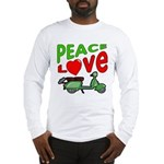 Peace Love Motor Scooter Long Sleeve T-Shirt