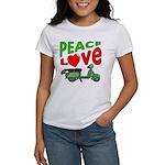 Peace Love Motor Scooter Women's T-Shirt