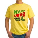 Peace Love Motor Scooter Yellow T-Shirt