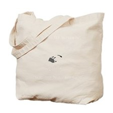 Aviation Broke White Text Tote Bag