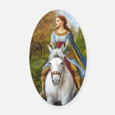 marian fin Oval Car Magnet