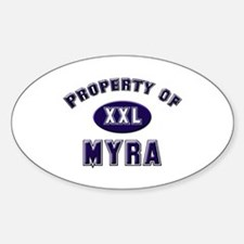 Property of myra Oval Decal