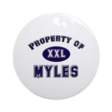 Property of myles Ornament (Round)