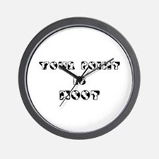 Your point is MOOT Wall Clock