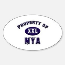 Property of mya Oval Decal