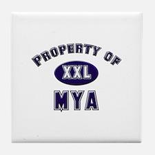 Property of mya Tile Coaster