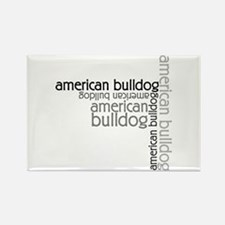 American Bulldog Dog Breed Rectangle Magnet