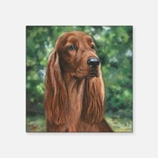 "Irish_Setter_M Square Sticker 3"" x 3"""