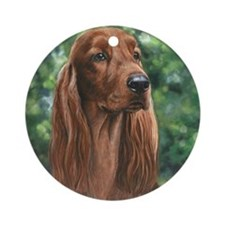 Irish_Setter_M Round Ornament