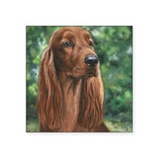 "Irish_Setter_M1 Square Sticker 3"" x 3"""