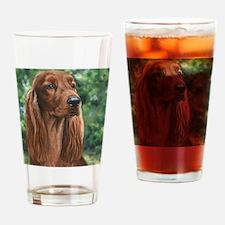 Irish_Setter_M1 Drinking Glass