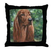 Irish_Setter_M1 Throw Pillow