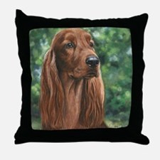 Irish_Setter_M1 Throw Pillow