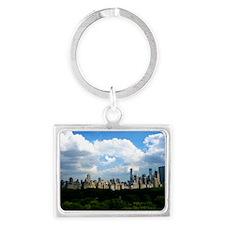 New York Skyline Above Central  Landscape Keychain