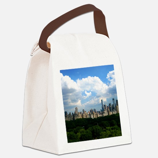 New York Skyline Above Central Pa Canvas Lunch Bag