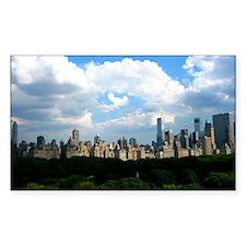 New York Skyline Above Central Decal