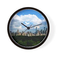 New York Skyline Above Central Park Wall Clock