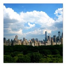 "New York Skyline Above C Square Car Magnet 3"" x 3"""