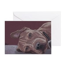 DogTired Greeting Card