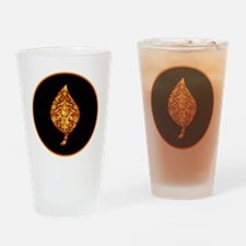 GoldleafLeafBr Drinking Glass