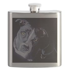 Blue Light-square Flask
