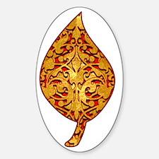 GoldleafLeafTR Sticker (Oval)