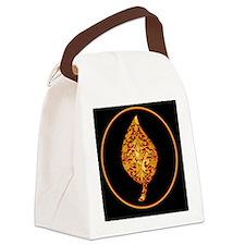 GoldleafLeafBcr Canvas Lunch Bag