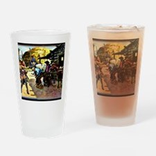 Sexy Cowgirl And Cowboys Shoeing Ho Drinking Glass