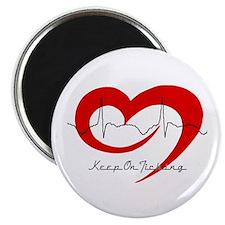 "Heart Health - Keep On Tickin 2.25"" Magnet (10 pac"