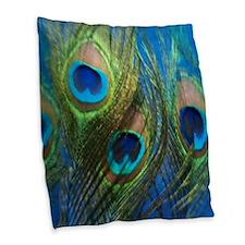 fish eye blue stadium Burlap Throw Pillow